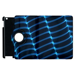 Background Light Glow Blue Apple Ipad 2 Flip 360 Case by Nexatart