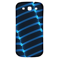 Background Light Glow Blue Samsung Galaxy S3 S Iii Classic Hardshell Back Case