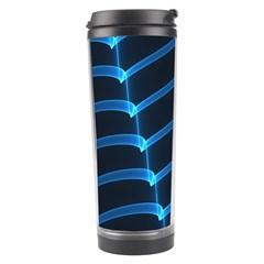 Background Light Glow Blue Travel Tumbler