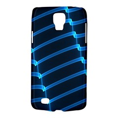 Background Light Glow Blue Galaxy S4 Active by Nexatart
