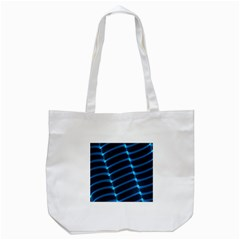 Background Light Glow Blue Tote Bag (white) by Nexatart