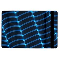 Background Light Glow Blue Ipad Air 2 Flip by Nexatart