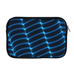 Background Light Glow Blue Apple Macbook Pro 17  Zipper Case by Nexatart