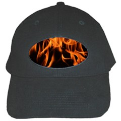 Fire Flame Heat Burn Hot Black Cap