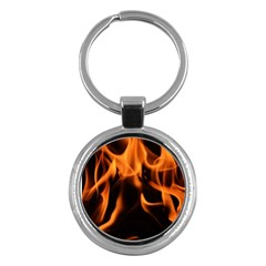 Fire Flame Heat Burn Hot Key Chains (round)