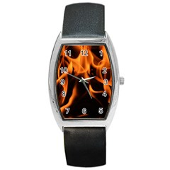 Fire Flame Heat Burn Hot Barrel Style Metal Watch