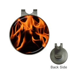 Fire Flame Heat Burn Hot Hat Clips With Golf Markers