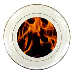 Fire Flame Heat Burn Hot Porcelain Plates by Nexatart