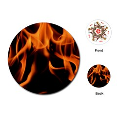 Fire Flame Heat Burn Hot Playing Cards (round)  by Nexatart