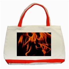 Fire Flame Heat Burn Hot Classic Tote Bag (red)