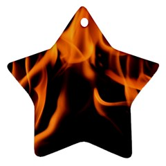 Fire Flame Heat Burn Hot Star Ornament (two Sides)