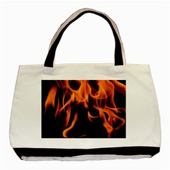 Fire Flame Heat Burn Hot Basic Tote Bag (two Sides)