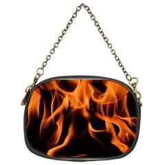 Fire Flame Heat Burn Hot Chain Purses (one Side)  by Nexatart
