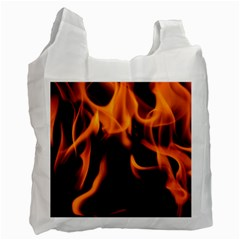 Fire Flame Heat Burn Hot Recycle Bag (two Side)