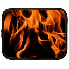 Fire Flame Heat Burn Hot Netbook Case (xl)  by Nexatart