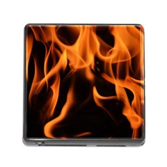 Fire Flame Heat Burn Hot Memory Card Reader (square)