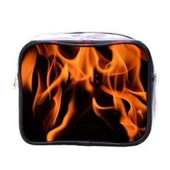 Fire Flame Heat Burn Hot Mini Toiletries Bags by Nexatart