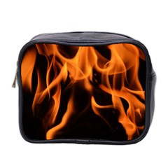 Fire Flame Heat Burn Hot Mini Toiletries Bag 2 Side by Nexatart