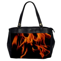 Fire Flame Heat Burn Hot Office Handbags by Nexatart