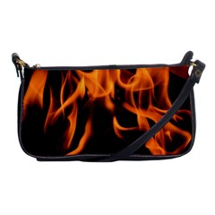 Fire Flame Heat Burn Hot Shoulder Clutch Bags