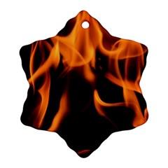 Fire Flame Heat Burn Hot Ornament (snowflake)