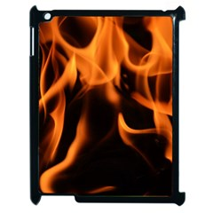 Fire Flame Heat Burn Hot Apple Ipad 2 Case (black) by Nexatart