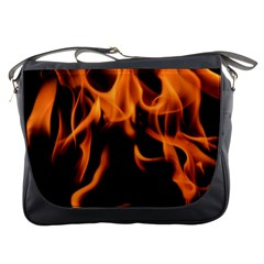 Fire Flame Heat Burn Hot Messenger Bags by Nexatart