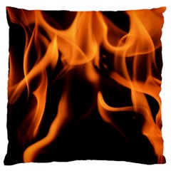 Fire Flame Heat Burn Hot Large Cushion Case (two Sides) by Nexatart