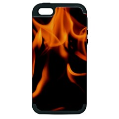 Fire Flame Heat Burn Hot Apple Iphone 5 Hardshell Case (pc+silicone)