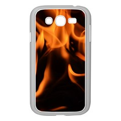 Fire Flame Heat Burn Hot Samsung Galaxy Grand Duos I9082 Case (white)