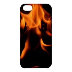 Fire Flame Heat Burn Hot Apple Iphone 5c Hardshell Case