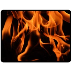 Fire Flame Heat Burn Hot Double Sided Fleece Blanket (large)