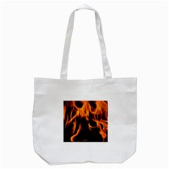 Fire Flame Heat Burn Hot Tote Bag (white)