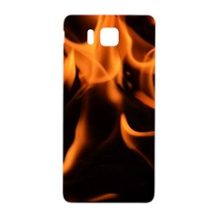 Fire Flame Heat Burn Hot Samsung Galaxy Alpha Hardshell Back Case by Nexatart