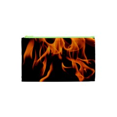 Fire Flame Heat Burn Hot Cosmetic Bag (xs)