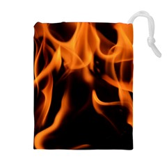 Fire Flame Heat Burn Hot Drawstring Pouches (extra Large)