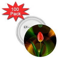 Tulip Flower Background Nebulous 1 75  Buttons (100 Pack)