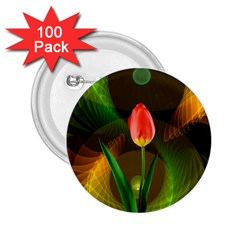 Tulip Flower Background Nebulous 2 25  Buttons (100 Pack)  by Nexatart