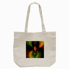 Tulip Flower Background Nebulous Tote Bag (cream) by Nexatart