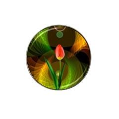Tulip Flower Background Nebulous Hat Clip Ball Marker (4 Pack)
