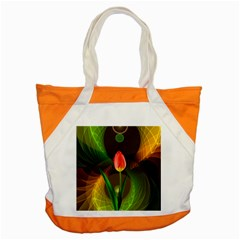 Tulip Flower Background Nebulous Accent Tote Bag by Nexatart