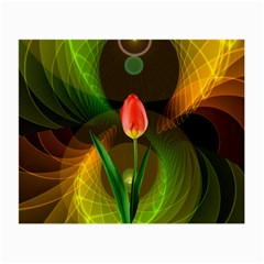 Tulip Flower Background Nebulous Small Glasses Cloth (2 Side) by Nexatart