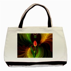 Tulip Flower Background Nebulous Basic Tote Bag (two Sides)