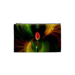 Tulip Flower Background Nebulous Cosmetic Bag (small)