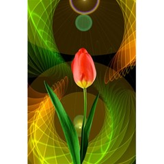 Tulip Flower Background Nebulous 5 5  X 8 5  Notebooks