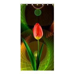 Tulip Flower Background Nebulous Shower Curtain 36  X 72  (stall)  by Nexatart