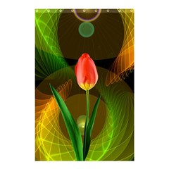 Tulip Flower Background Nebulous Shower Curtain 48  X 72  (small)  by Nexatart