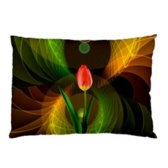 Tulip Flower Background Nebulous Pillow Case (two Sides)