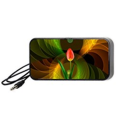 Tulip Flower Background Nebulous Portable Speaker (black)