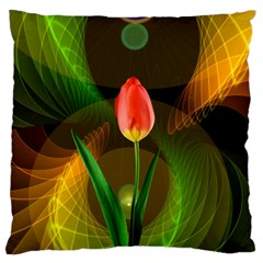 Tulip Flower Background Nebulous Large Cushion Case (two Sides) by Nexatart
